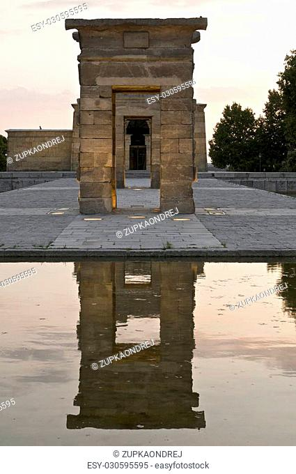 view to temple debod in madrid