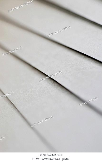 Close-up of sheets of paper
