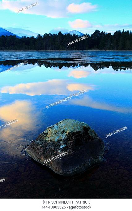 View, mountain, mountains, mountain panorama, Cairngorms, national park, dusk, twilight, ice, cliff, rock, cliff, mountains, highlands, highland, living space
