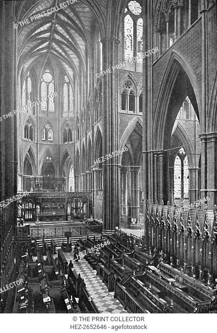 'The Choir and Apse, Westminster Abbey', 1902. From Social England, edited by H.D. Traill, D.C.L. and J. S. Mann, M.A. [Cassell and Company, Limited, London