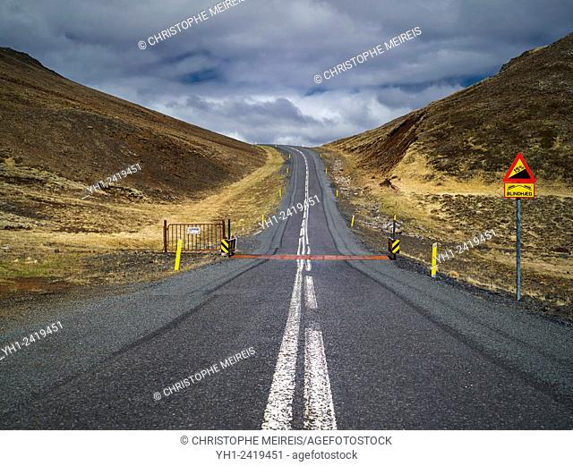 Road number 1 in Iceland