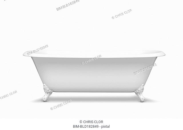 Empty bathtub in studio