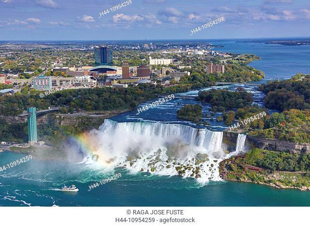 Canada, North America, Falls, Niagara, Ontario, boat, landmark, panorama, river, terrace, touristic, tourists, travel, water, water fall, famous