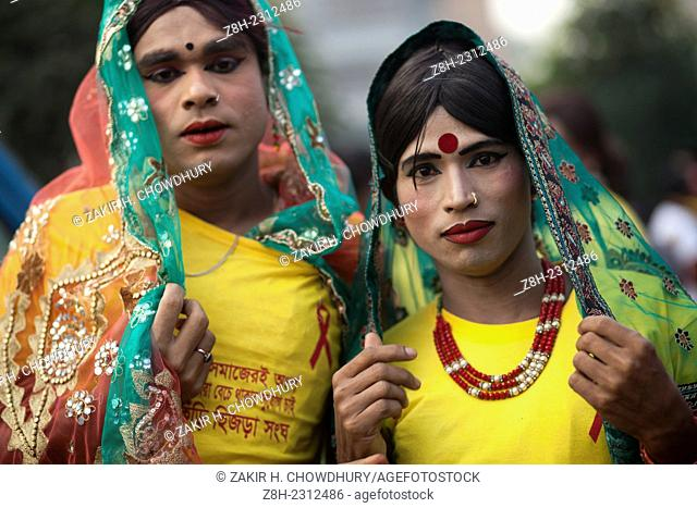 Social workers form and transsexuals made rally in Dhaka to aware people from HIV/AIDS on the occasion of 'World AIDS Day'