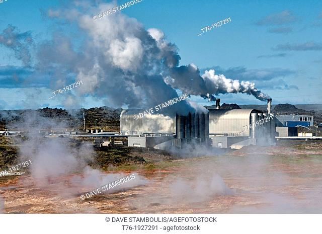The Reykjanes Power Station, a geothermal power plant in southern Iceland