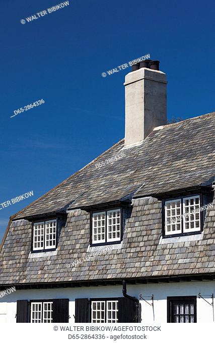 UK, Northern Ireland, County Antrim, Cushendun, building detail
