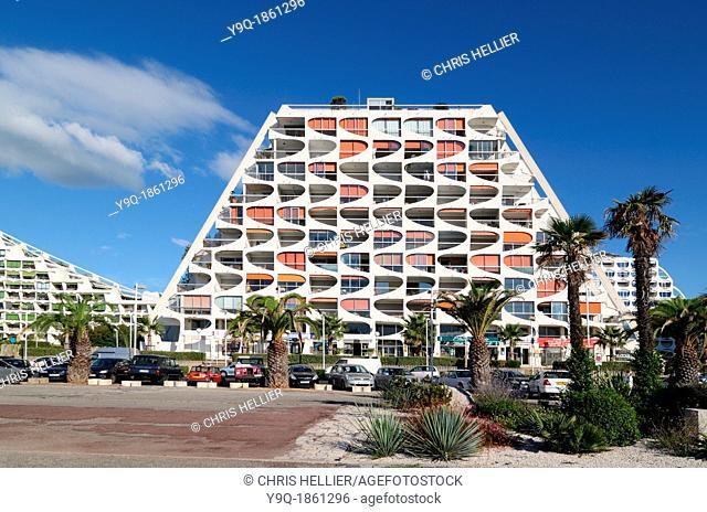 Eden Building 1974 by Jean Balladur La Grande-Motte Hérault France