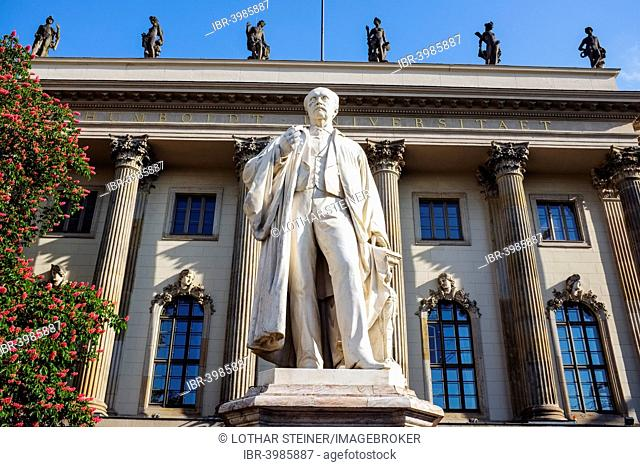 Helmholtz statue in front of the Humboldt University, Berlin, Germany
