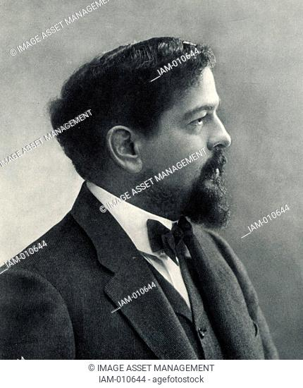 (Achille) Claude Debussy (1862-1919) French composer. From a photograph by Nadar, pseudonym of Gaspard-Felix Tournachon (1820-1910)