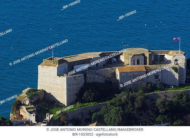 Parsons Lodge Battery, Gibraltar, British overseas territory, Iberian Peninsula, Europe