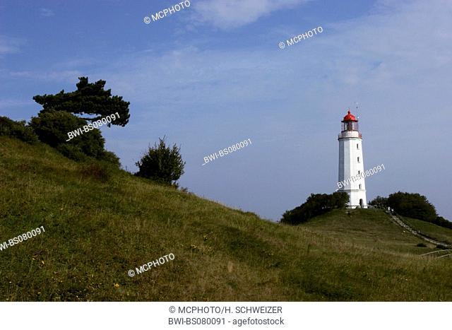 Lighthouse Dornbusch on Hiddensee, Germany, Mecklenburg-Western Pomerania