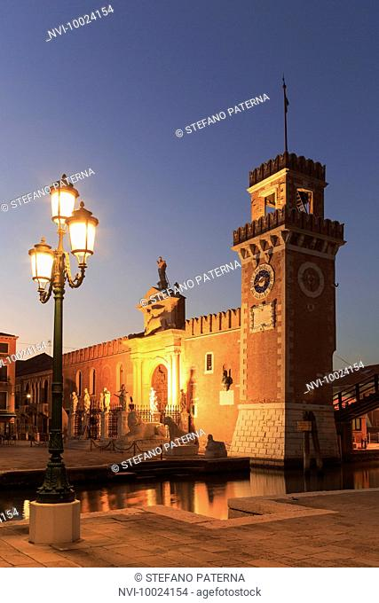 The gate to the Arsenal, shipyard, arsenal and naval base of the former Republic of Venice, Venice, Italy