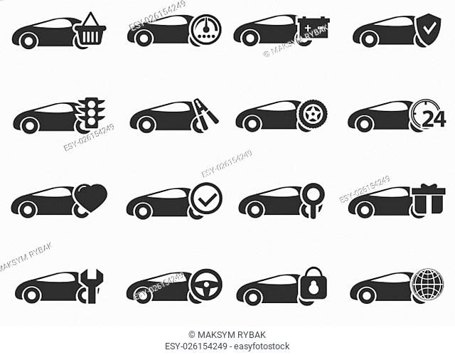 Car service simply icons for web and user interfaces