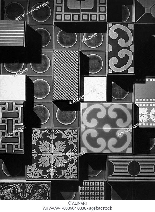 Ginori tile samples, shot 1950-1960 by Villani Achille
