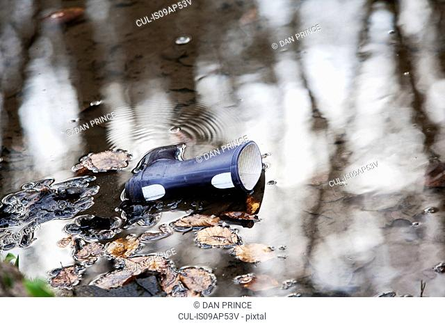 Lone Wellington boot in water