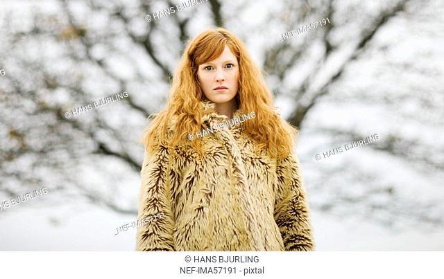 Portrait of a young Scandinavian girl Sweden
