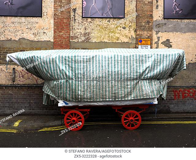 Covered cart in Brixton - London, England