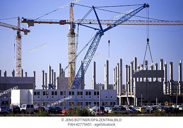 The construction site of the new Nestle coffee capsule factory in Schwerin, Germany, 17September 2013. The Swiss food company Nestle is building the coffee...