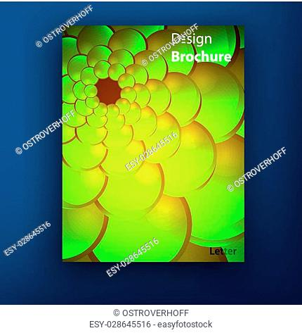 Vector green golden squama brochure booklet cover design templates collection