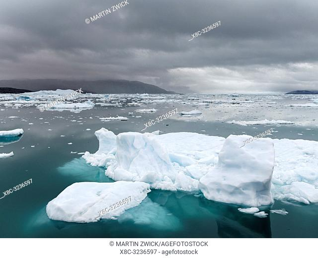 The great Eqip Glacier (Eqip Sermia oer Eqi glacier) in Greeland. Denmark, August