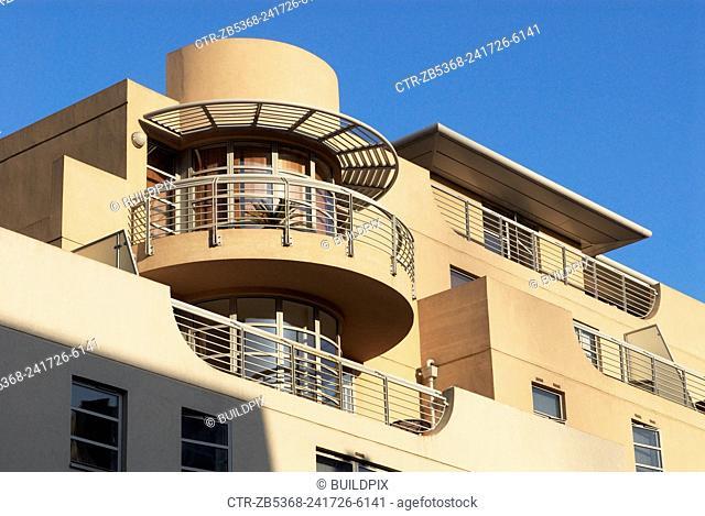 1930s Art-deco styled apartments, Spitalfields, East London, UK
