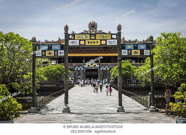 View of Thai Hoa Palace in Hue Imperial City (Thua Thien-Hue province, Vietnam)