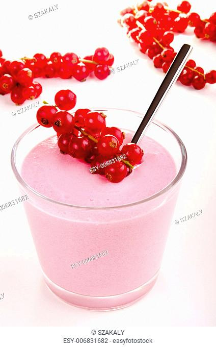 red fruit pudding with red currants