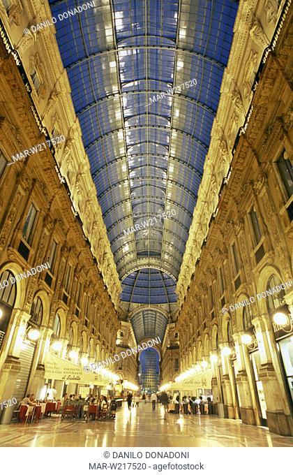vittorio emanuele arcade, milan, italy