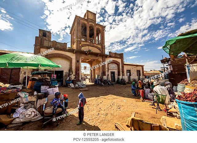 Gate of the Medeber Market, built circa 1912; Asmara, Central Region, Eritrea