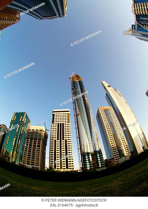 Dubai, Sheik Zayed Road, modern skyline, United Arab Emirates