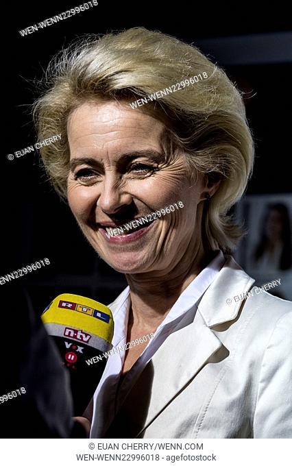 Celebrities attends Women in the World Summit in Sloane Square, London. Featuring: Ursula von der Leyen Where: London, United Kingdom When: 08 Oct 2015 Credit:...