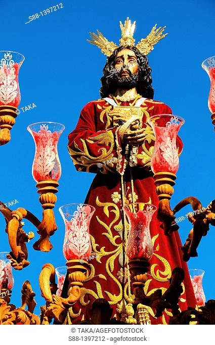 Holy week in San Roque village at strait of Gibraltar  Here is the border between Christianity and Muslim world