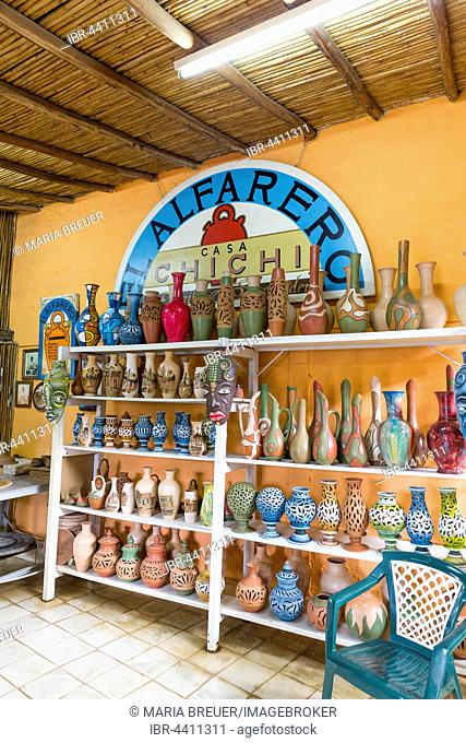 Pottery for sale as a local, special souvenir, El Alfarero Casa Chichi, Casa Chichi Pottery House, Trinidad, Sancti Spíritus Province, Cuba