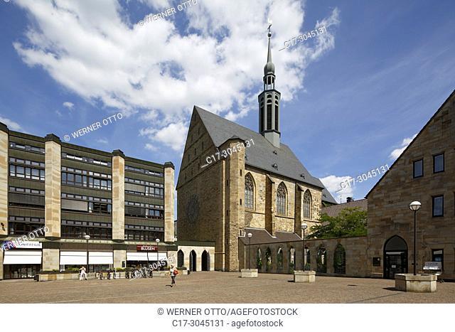 Dortmund, D-Dortmund, Ruhr area, Westphalia, North Rhine-Westphalia, NRW, Propsteihof, Propstei church Saint Johannes Baptist, catholic church