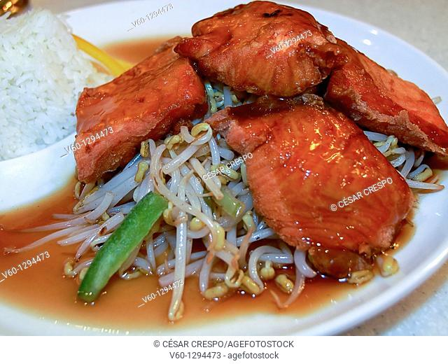 -Japanese Food- Fish with Souce and Rice