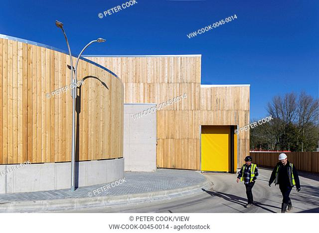 The recycling centre building was designed to transform the household recycling experience for Bridport. It has easy to use low
