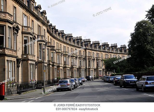 Belgrave Crescent, Edinburgh, Scotland, United Kingdom, Europe