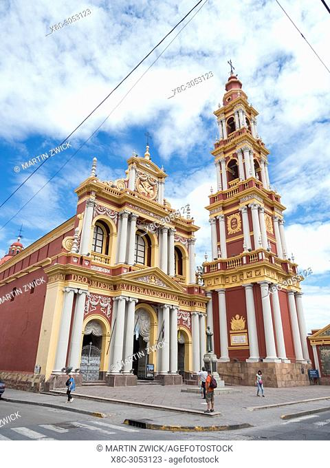 """Church San Francisco. Town Salta in the north of Argentina located in the foothills of the Andes. """"""""Salta La Linda"""""""" is considered as one of the most..."""