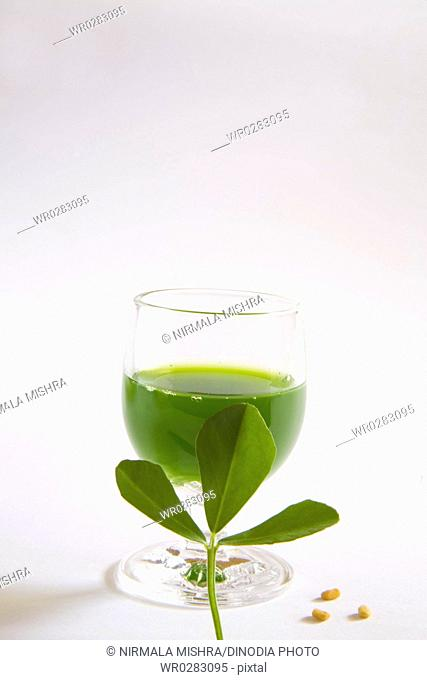 Vegetable , fenugreek Juice , methi ka rus , India