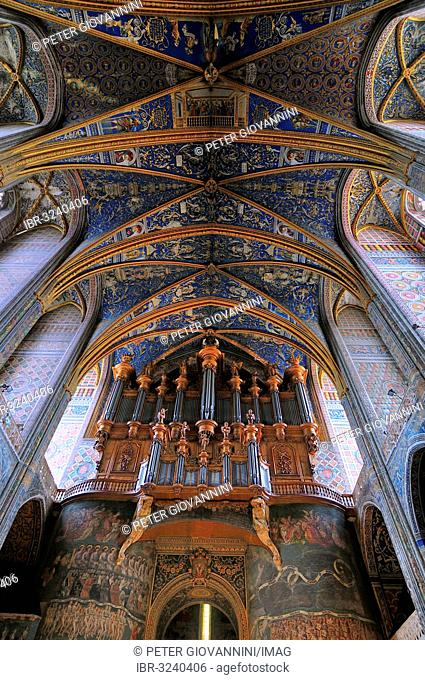 Ceiling frescoes from the 16th century, Albi Cathedral, formally the Cathedral of Saint Cecilia, Cathédrale Sainte-Cécile d'Albi