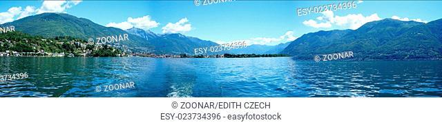 Panoramic of Lake Maggiore
