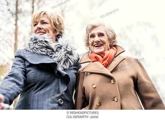 Portrait of senior woman and daughter