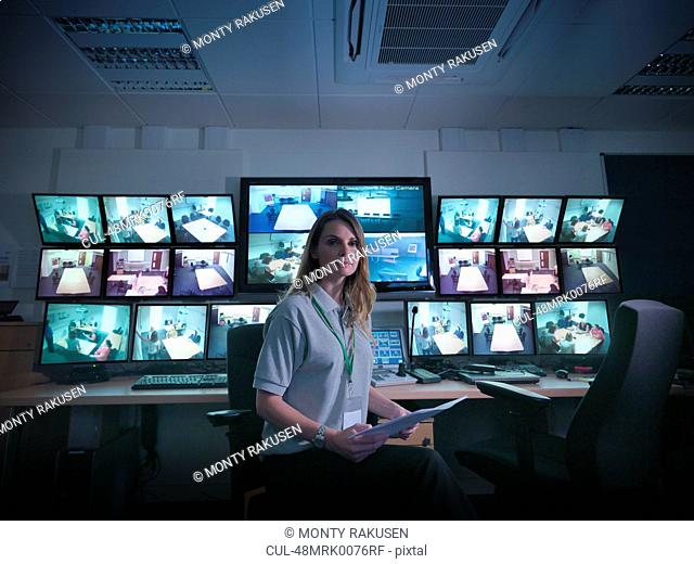 Student sitting in forensic screen room