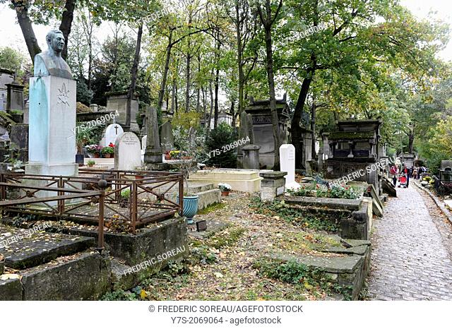 Pere Lachaise cemetery ,Paris (75),France