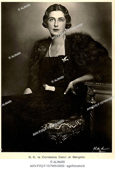 Princess Yolanda of Savoy (1901-1986), Countess of Bergolo, shot 1930 ca. by Carell, Ghitta