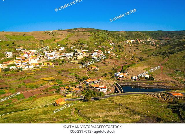 Landscape view of Arure municipality. La Gomera island