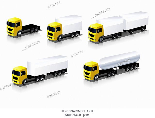 cargo tuck icons set