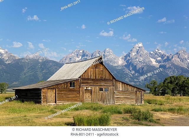 T. A. Moulton Barn, Mormon Row, Grand Teton National Park, Wyoming, United States of America, North America