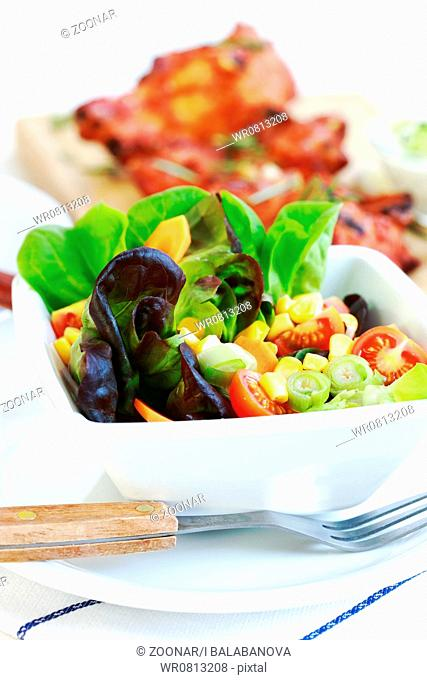 Small salad with low calorie