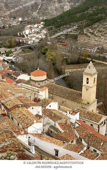 Alcalá del Júcar seen from castle. Albacete province, Castilla-La Mancha, Spain